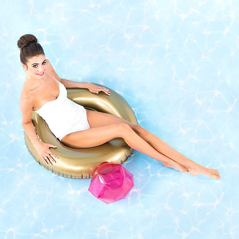 Inflatable Diamond Ring Inner Tube Pool Float