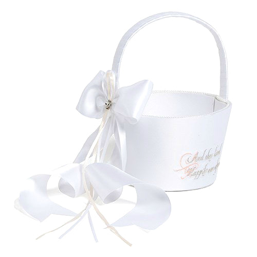 Fairy Tale Happily Ever After Flower Girl Basket