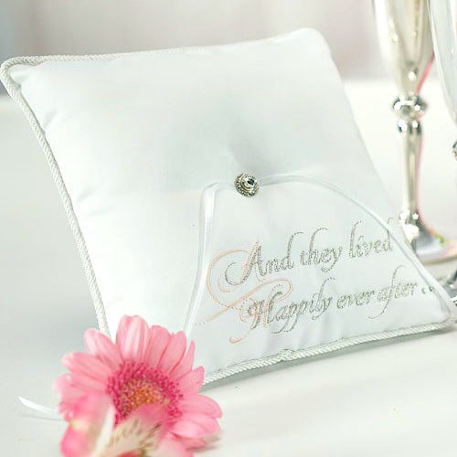 Fairy Tale Happily Ever After Ring Bearer Pillow