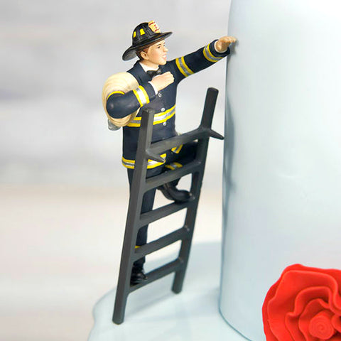 Firefighter Groom Cake Topper
