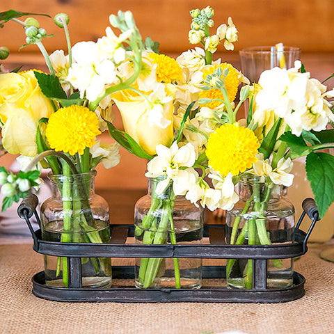 Flower Vase Metal Tray