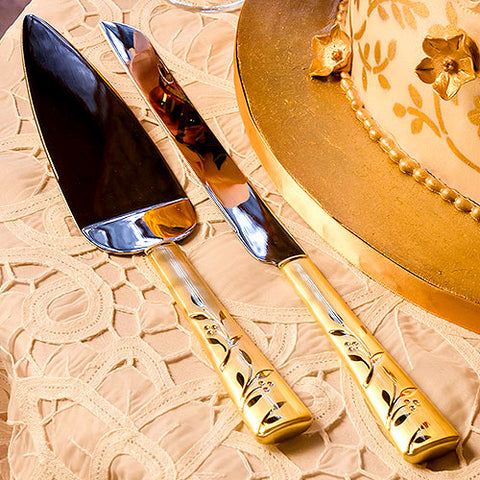 Venetian Gold Cake Serving Set