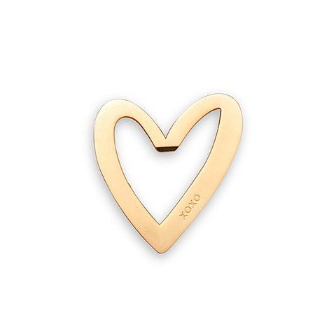 Gold Heart Bottle Opener Favor