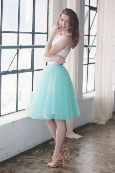 Mint To Be Tulle Skirt