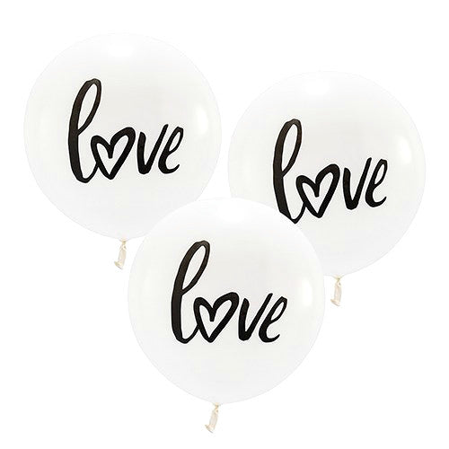 Large Round Love Wedding Balloons