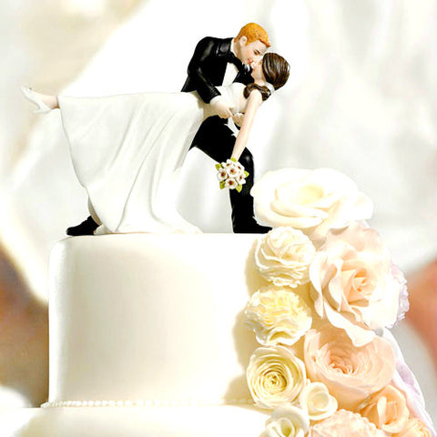 Dancing Bride And Groom Cake Topper