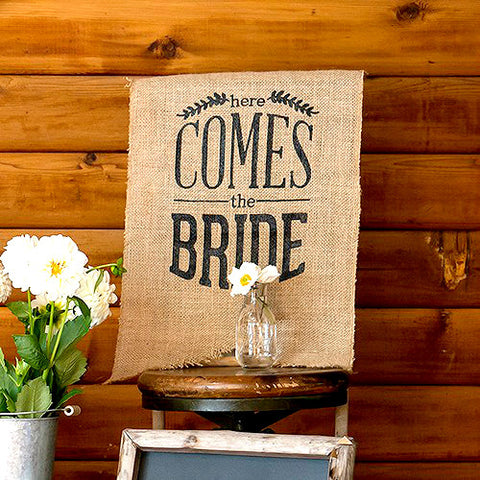 Rustic Here Comes The Bride Ceremony Sign