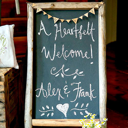 Rustic Wood Frame Chalkboard Sign