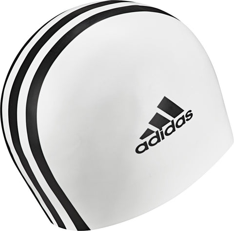 3 Stripe Silicon Swim Cap