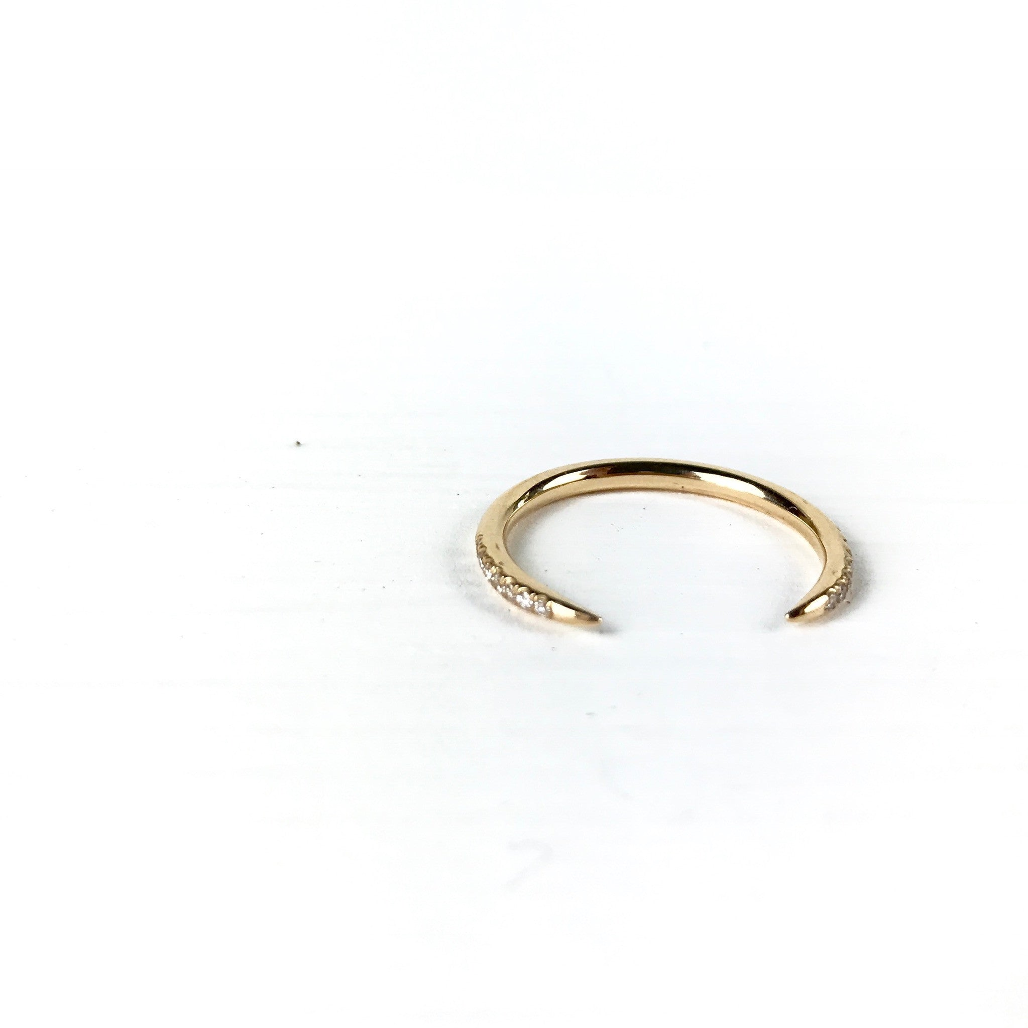 in lyst michael rings kors slice metallic product gold ring jewelry gallery