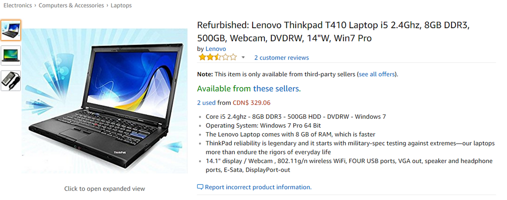 Lenovo ThinkPad T410 Refurbished for Sale