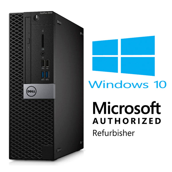 Dell OptiPlex 5050 (SFF) / Intel i5-6500 (6th Gen) Quad Core @ 3.2 GHz / 8GB DDR4 RAM / 1TB HDD / Wi-Fi / Keyboard & Mouse / Windows 10 Professional x64/ Small Form Factor Business Desktop Computer PC