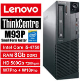 "Lenovo ThinkCentre M93P (SFF) & 19"" LCD Monitor Combo / Intel Core i5-4570 (4th Gen) Quad Core @ 3.6GHz / 8GB RAM / 500GB HDD / Wi-Fi, Keyboard & Mouse / USB 3.0 / VGA / DP / Gigabit Ethernet / Windows 10 Pro - 1 Year Warranty - Small Form Factor"
