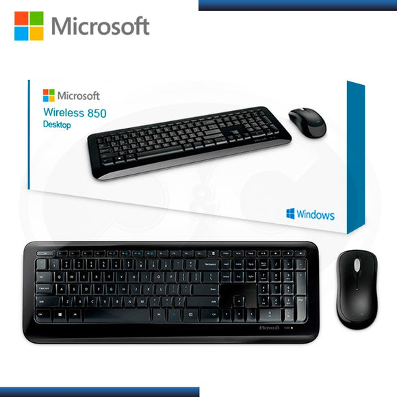 Microsoft Wireless Desktop 850 (PY9-00002) (Band New) with Advanced Encryption Standard (AES) 128-Bit Encryption - Keyboard and Mouse (English) Combo - Brand New Retail Box