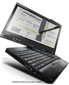 "ThinkPad x230t Refurbished (Lenovo) | 12"" Tablet/Laptop 2in1 