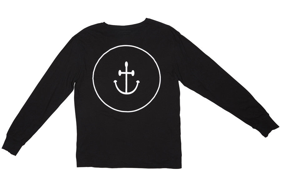 Smiley Face Anchor ls Tee