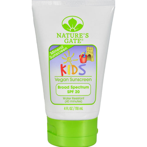 Nature's Gate Mineral Kids Block Spf 20 Fragrance Free - 4 Fl Oz