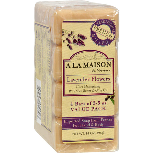 A La Maison Bar Soap - Lavender Flower - Value 4 Pack - Zoja Kid
