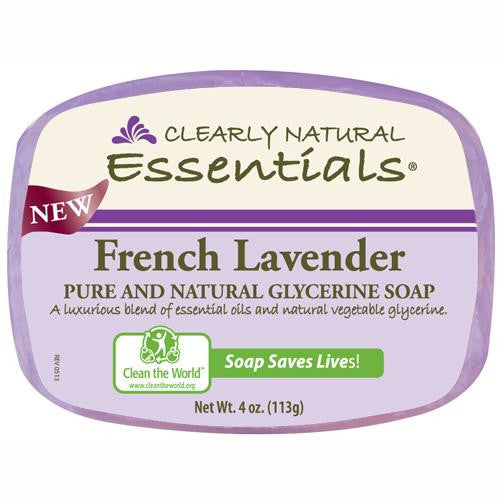 Clearly Natural Glycerin Bar Soap - French Lavender - 4 Oz - Zoja Kid