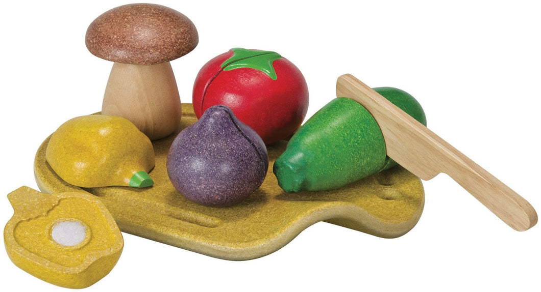 Plan Toys Pretend Play Assorted Vegetable Set - 18+ months