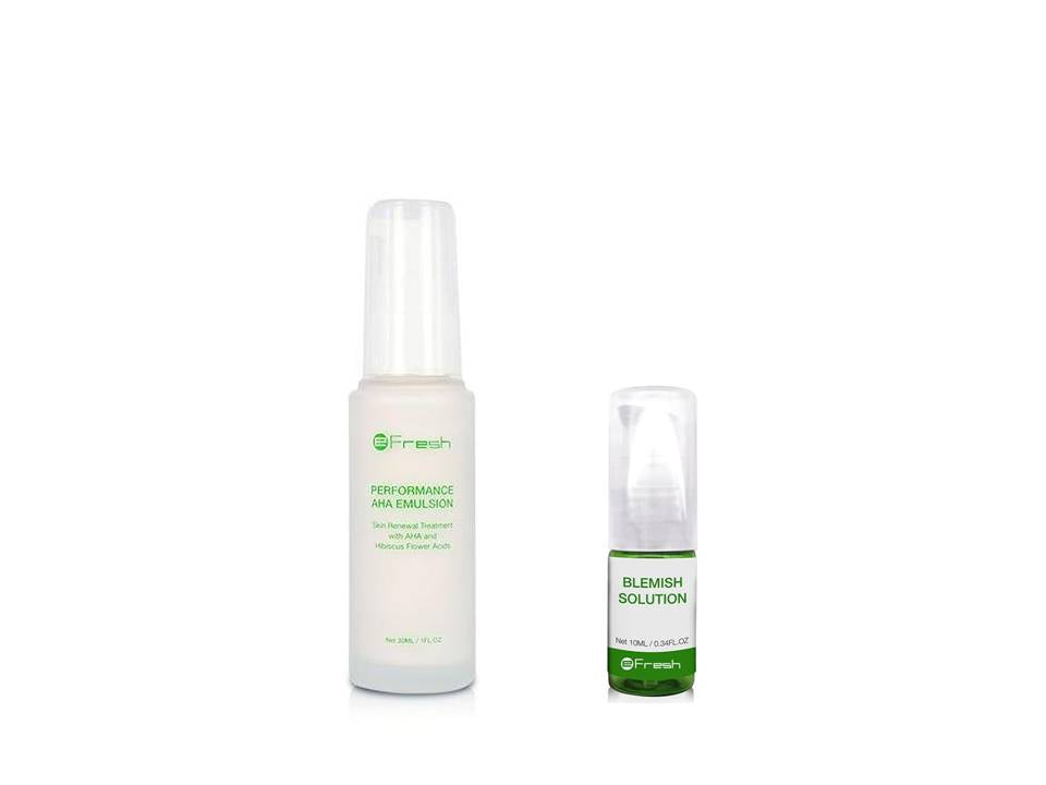 AHA Emulsion and Blemish Solution Bundle