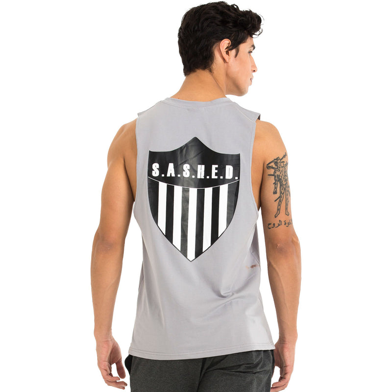 SHIELD OF SHASHED MENS TANK