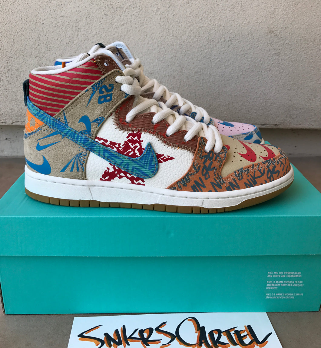 online store 5ddd8 b9b97 Nike SB Zoom Dunk High Premium 'What The' – Snkrs Cartel