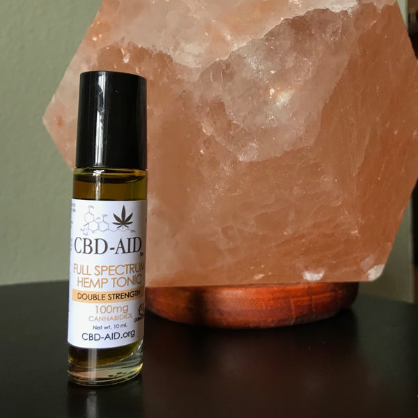 CBD-AID Double Strength Full Spectrum Hemp Tonic Roller - 100mg