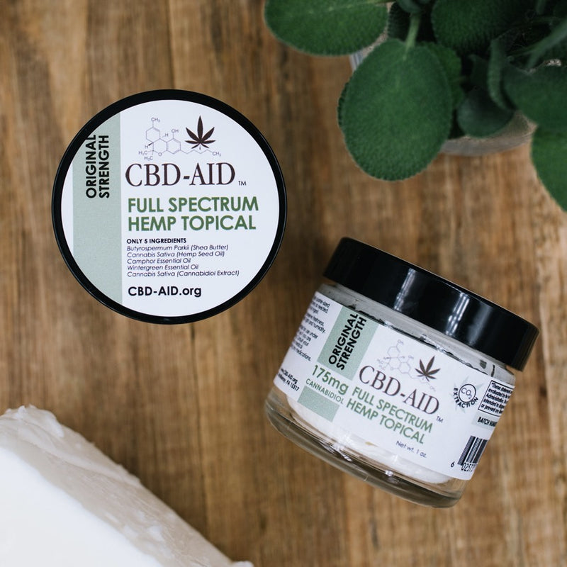 CBD-AID's Original Strength Full Spectrum Hemp Topical