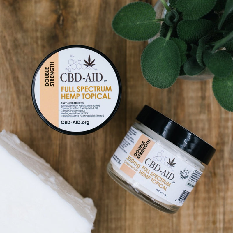 CBD-AID's Double Strength Full Spectrum Hemp Topical