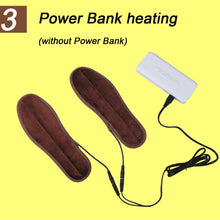 1 Pair USB Heated Shoe Insoles Foot Warming Pad.