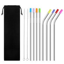 Re-useable Stainless Steel Straw Set With Cleaning Brush