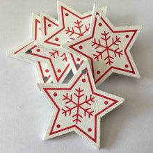 Beautiful Red/White Wooden Tree Ornaments to add that special effect!