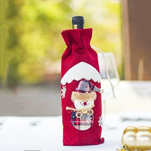 Xmas Bottle Bag Cover Santa Claus Deer
