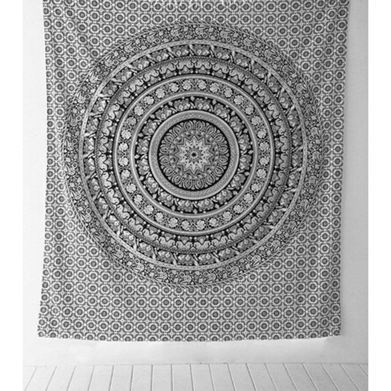 Dress up your room! 210 x 148cm Mandala tapestry Elephant Bohemian Wall Hanging. FREE SHIPPING