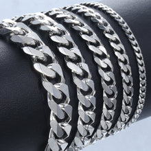 Stainless Steel Cuban Link Chain Bracelets. Men add a distinguished look to your outfit!