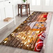 3D Christmas Santa Claus Anti-slip Hall Rug. What a greeting when your guests step through the front door.
