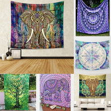 5 Style Indian Elephant Mandala Tapestry Wall Hanging Tapestries or Beach Throw Towel 150*130cm