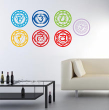 Bring vital energy into your home with Chakras Vinyl Wall Decal.  FREE SHIPPING