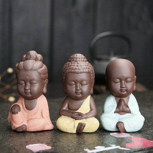 Can you see this 8.9CM Small Mandala Clay Buddha Statue in your home? FREE SHIPPING