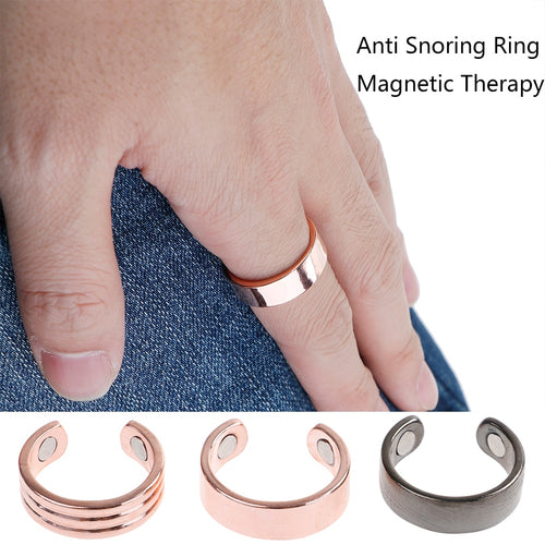 Adjustable Anti Snore Ring. Magnetic Therapy Acupressure Treatment