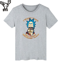 BTS Rick And Morty T-shirt Men Short Sleeve USA Funny Cartoon Tee Shirts Casual Streetwear Fashion Top Quality Funny Tshirt Men