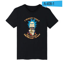 BTS Rick And Morty T-shirt Men's Short Sleeve 100% Cotton
