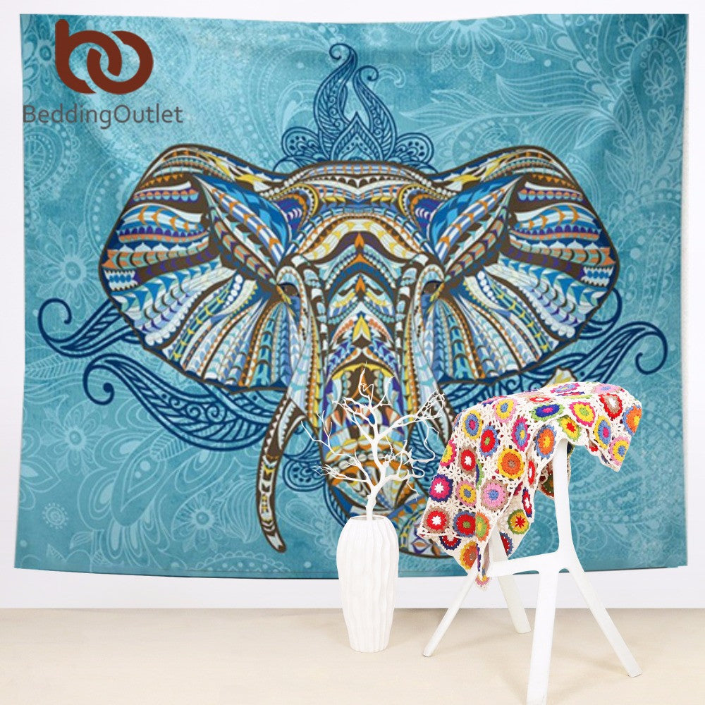 Elephant Mandala. Elephants allow good fortune to flow to the owners! FREE SHIPPING