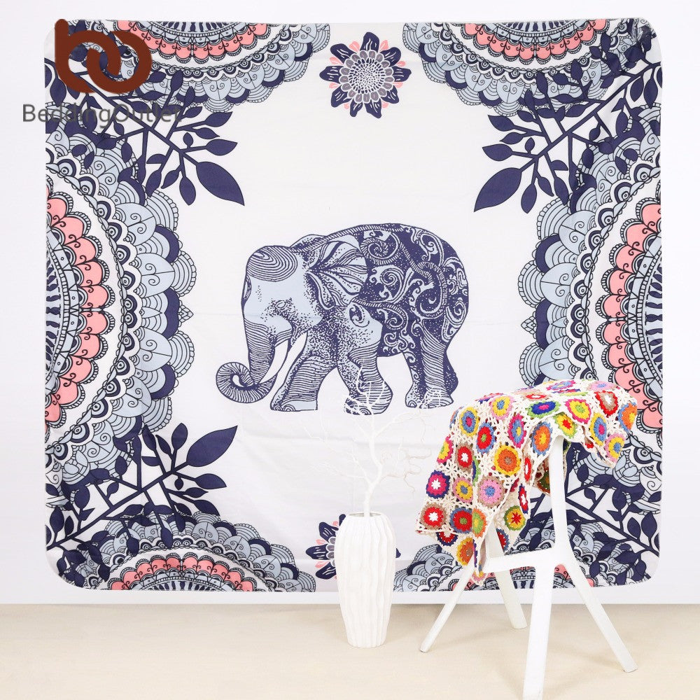 Mandala Tapestry Indian Elephant Boho Decorative Wall Tapestries. FREE SHIPPING