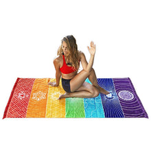 Chakra Wall Hanging or meditation Blanket. FREE SHIPPING