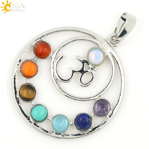 A Health Amulet  for Healing 7 Chakras Reiki Stones Pendant. FREE SHIPPING