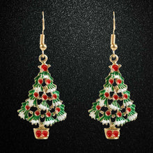 Christmas Earrings Zinc Alloy Festival Ornaments 1Pair Christmas Tree Earrings For Women Metal Stud Earring Fashion Gift jewelry