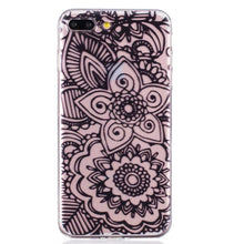 Clear Henna Mandala Phone Cases TPU for iPhone 7 6 6S Plus 5S 5 SE 5C. FREE SHIPPING