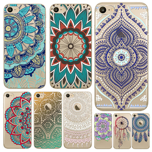 Colourful Mandala Dreamcatcher Phone Cases For Apple iPhone 7 6  6S Soft TPU Silicon. FREE SHIPPING